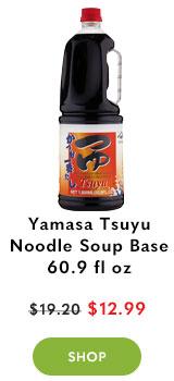 Yamasa Tsuyu Noodle Soup Base Infused with Bonito 60.9 fl oz