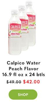 Calpico Water Peach Flavor 16.9 fl oz (500ml) x 24 bottles