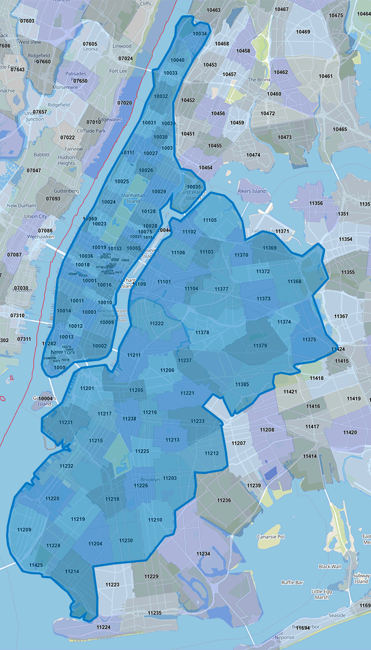 Home Delivery Area in NYC