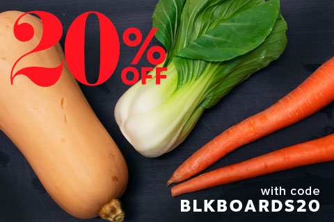 20% Off Black High Contrast Cutting Boards