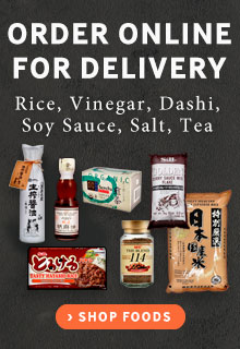 Order Online for Delivery Rice, Vinegar, Dashi, Soy Sauce, Salt, Tea