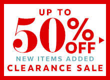 up to 50% off clearance sale