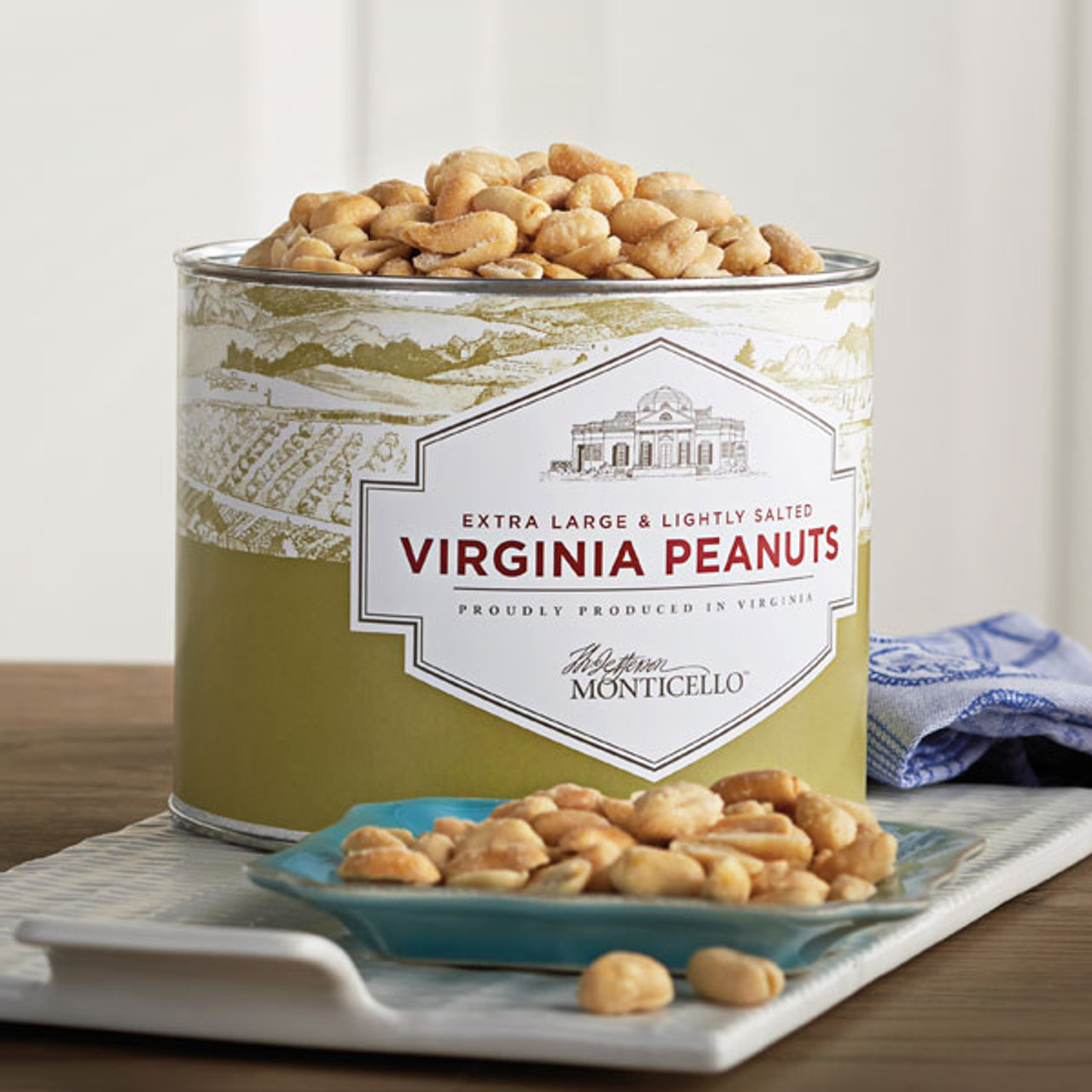 Salted Roasted Virginia Peanuts 40 Oz Monticello Shop