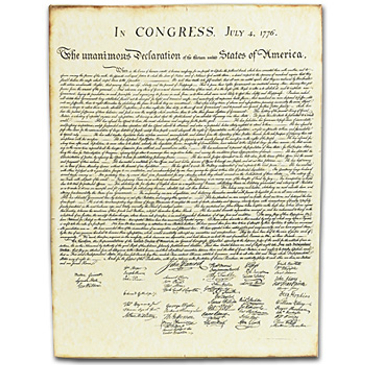 Canvas Declaration of Independence - Monticello Shop