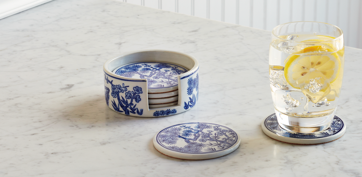 chinoiserie coasters