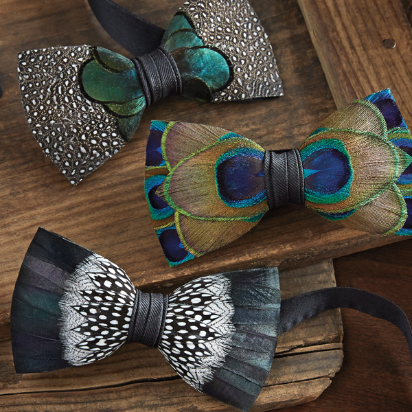 Image of Feather Bow Tie.