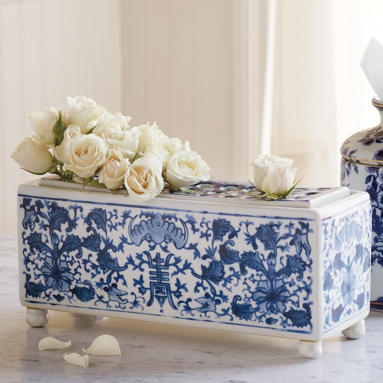 Long-Life Porcelain Flower Arranger Vase