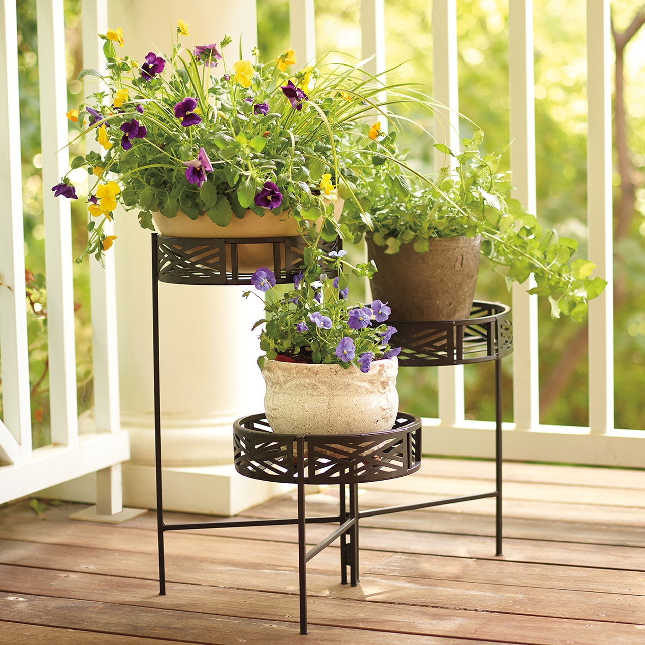Monticello Folding Metal Plant Stand