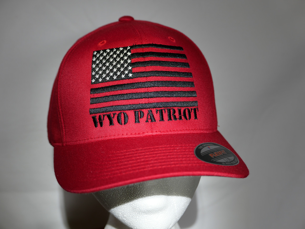 WYO Patriot Black Flag-Red