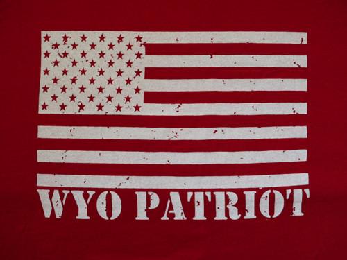 Red Wy Flag Wyo Powered