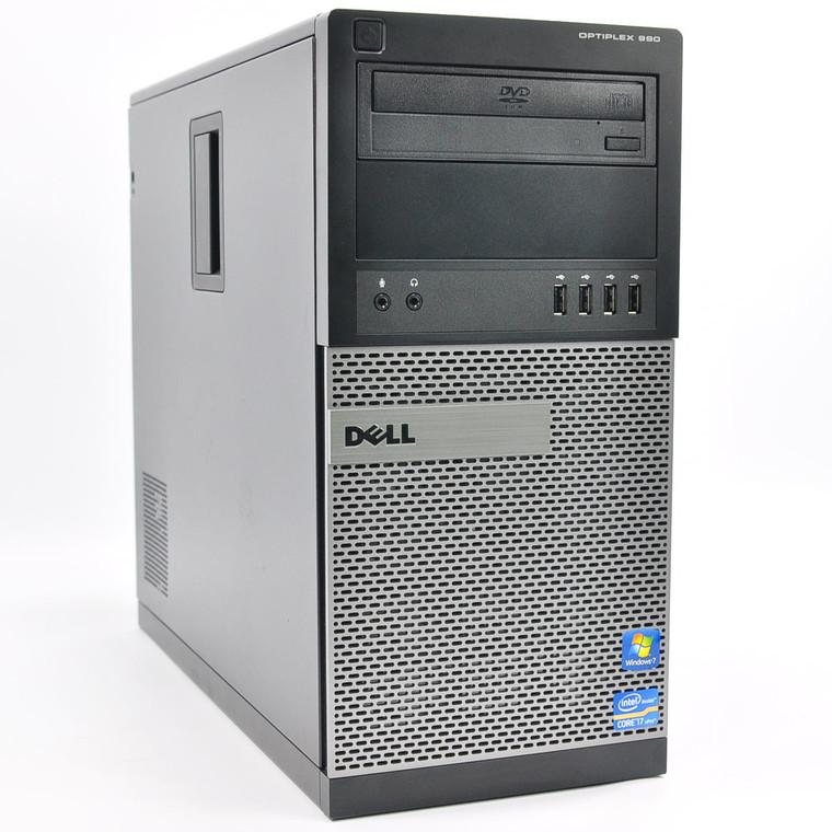 DELL OptiPlex 990 MTW Core i5 3.10GHz (2nd Gen.) 4GB RAM 500GB HDD DVD-Rom Nvidia GeForce GT520 Windows 10 Pro