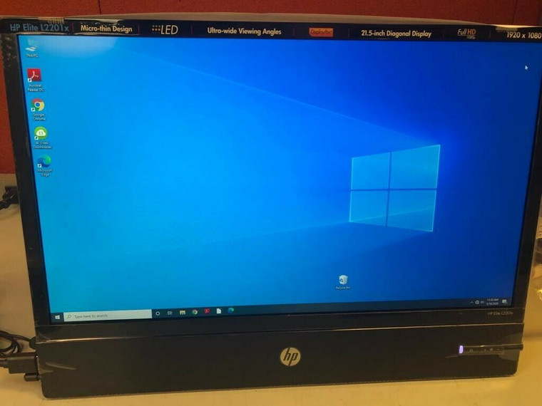 """HP Elite L2201x 21.5"""" LED Backlit LCD Super Slim Monitor Open Box Never Used ~ FREE Shipping"""