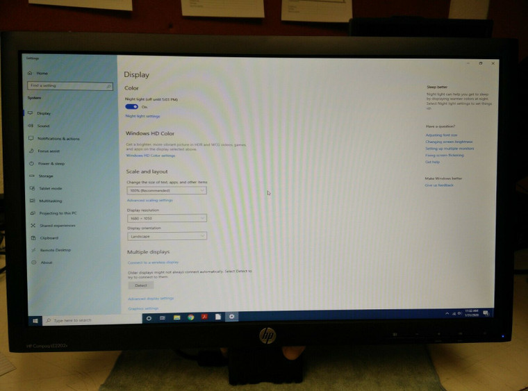 "HP Compaq LE2202X 21.5"" Widescreen LED LCD Computer Monitor DVI-VGA Open Box ~ FREE Shipping"