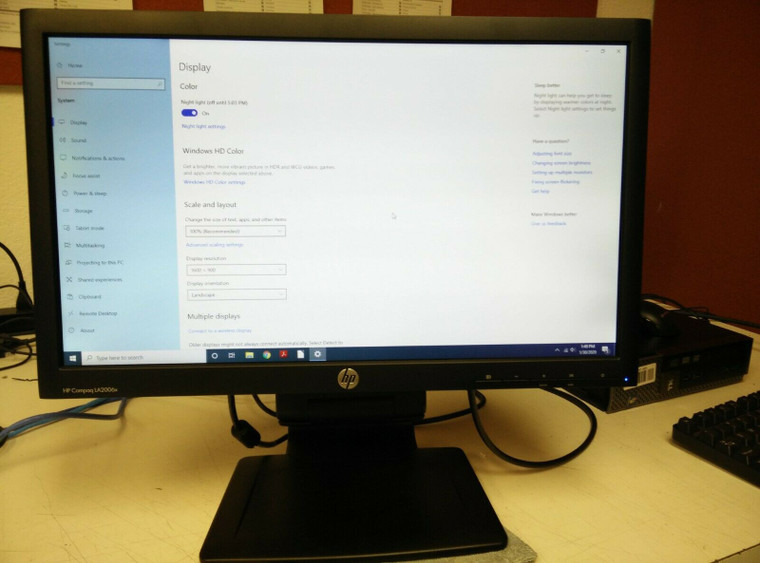 "HP Compaq LA2006x 20"" Widescreen LED Backlit LCD Monitor ~ Open Box ~ FREE Shipping"