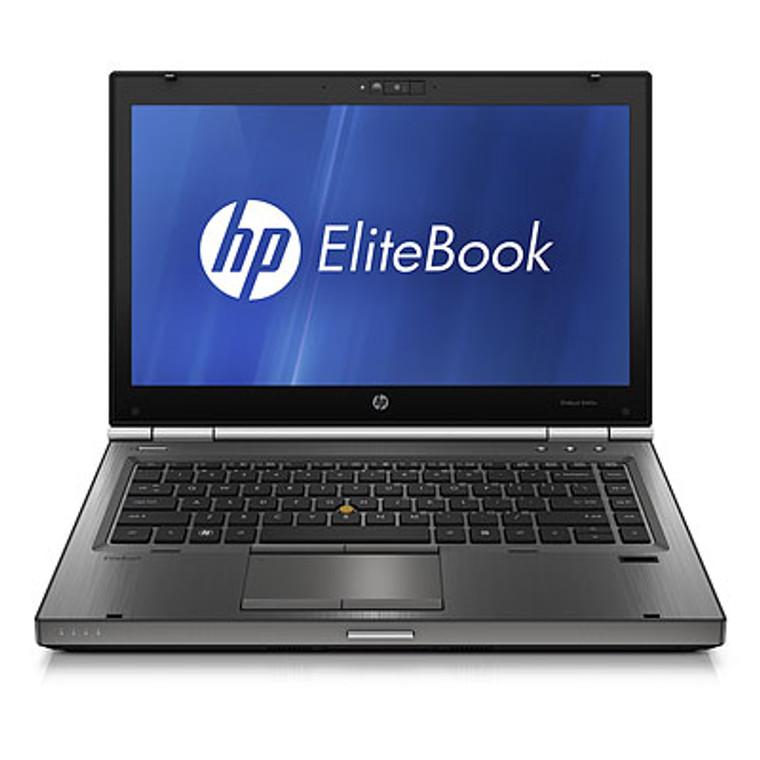 """HP EliteBook 8470p i5 2.60Ghz (3rd Gen.) 14"""" 4GB RAM 500GB HDD DVD-RW Webcam Windows 10 Pro"""