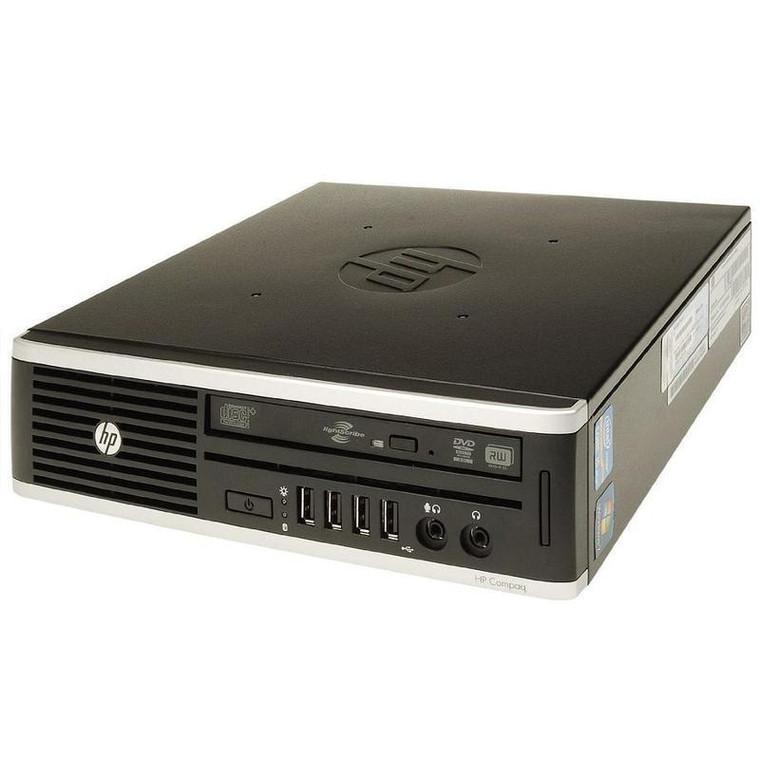 HP 8200 EliteDesk USFF Core i5 (2nd Gen) 3.10GHz 4GB RAM 320GB HDD DVD-RW Windows 10 Pro