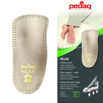 Pedag RELAX flexible, soft, anatomically shaped Orthotic 3/4 Insole
