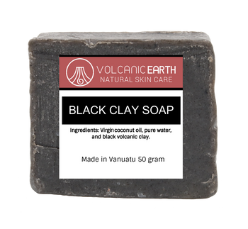 Natural handmade Black Clay soap - 1 bar