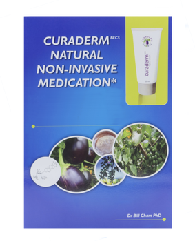 Curaderm Natural Non-Invasive Medication 85 pg. Book by Dr. Bill Cham