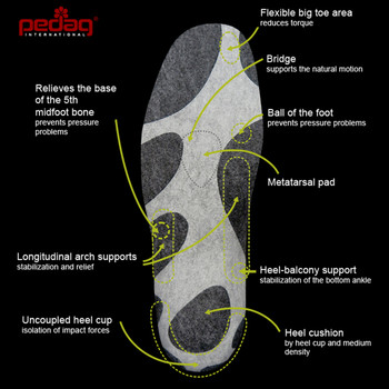Pedag Outdoor Sportsline - full length orthotic sports insole