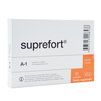Suprefort A-1  Natural  Pancreas Peptide - available in 20 & 60 capsules