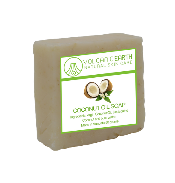 Natural handmade Coconut Oil soap - 1 bar