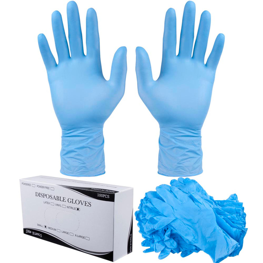 Nitrile Disposable Gloves Powder Free (Vinyl Free) Size: Large
