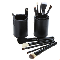 12 pc Makeup Brush Set With Black Canister