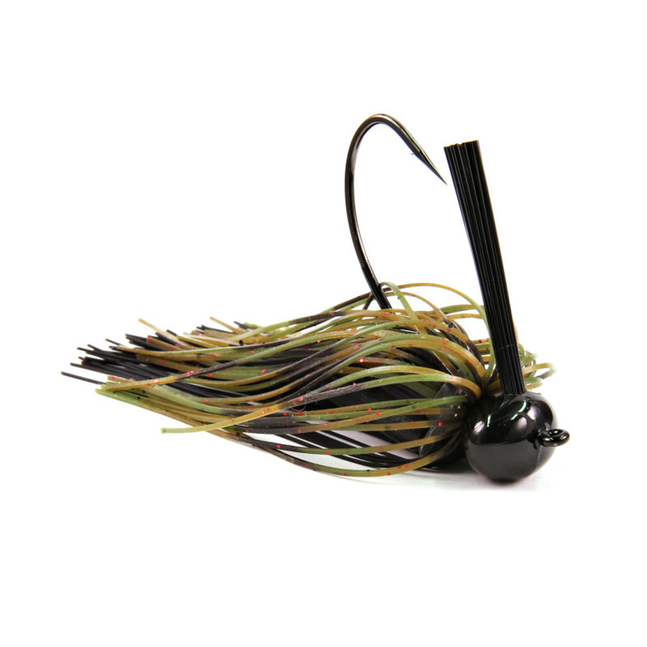 Silicon Bass Artficial Football Flipping Jig Rubber Skirt Fishing Bait Lure Hook