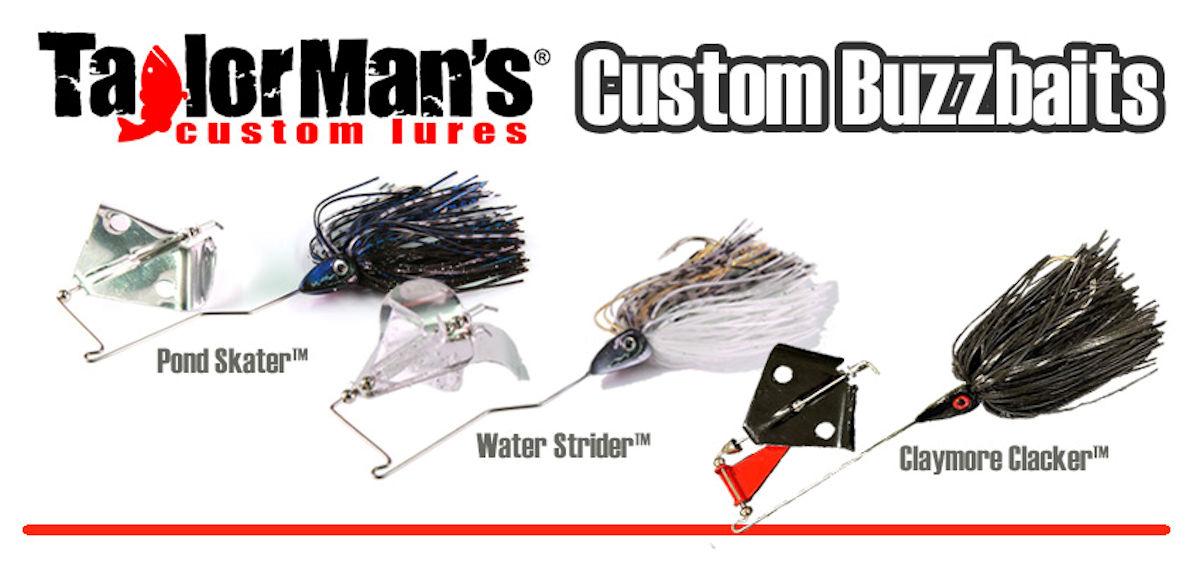 Custom Buzzbaits by Taylor Man's Custom Lures