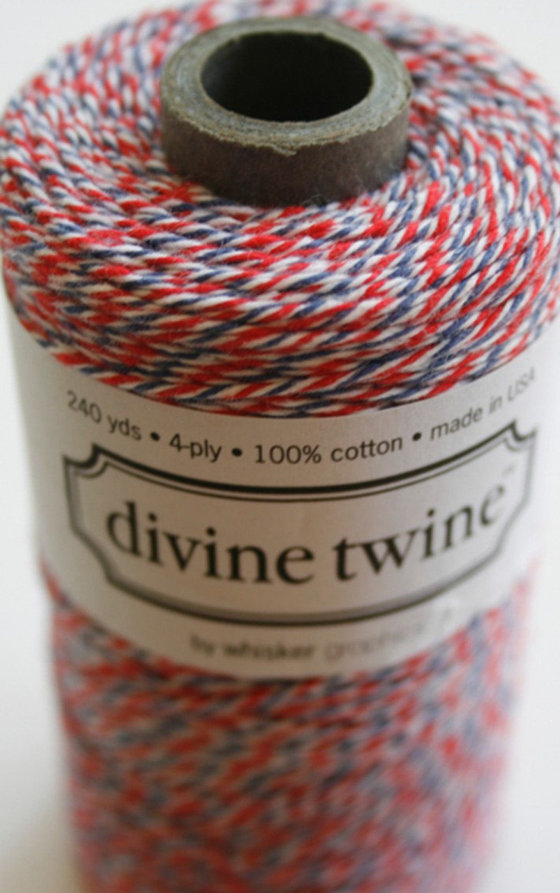 20 Yards • Divine Twine • Baker/'s Twine//String • 4-Ply • 100/% Cotton • Cherry