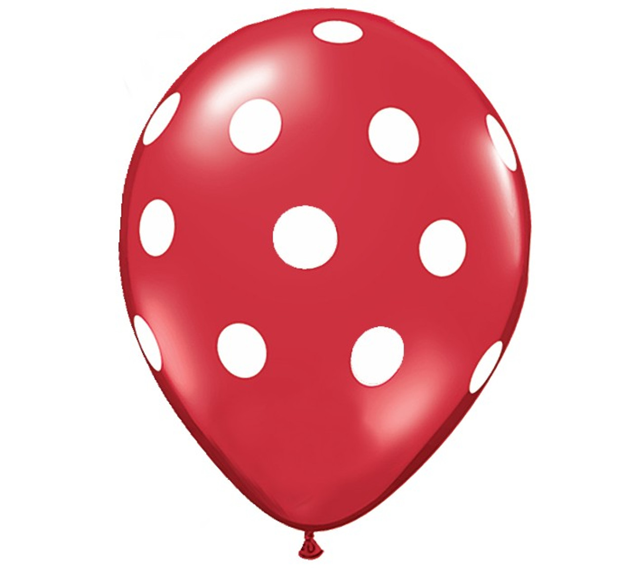 """Happium Pack of 10-12/"""" Assorted Latex Polka Dot Quality Party Balloons"""