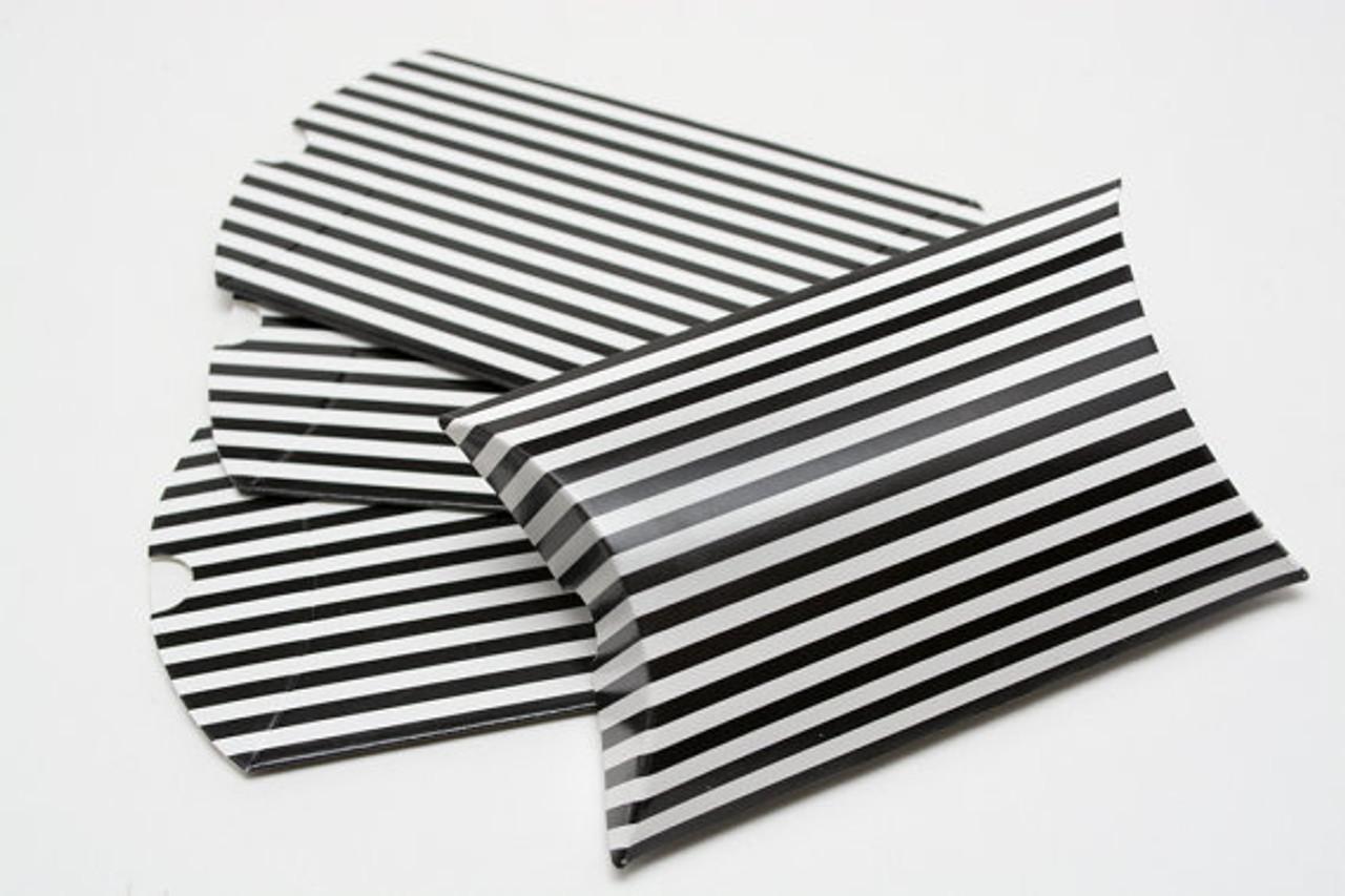 Pillow Boxes Black Stripe 3 12 X 3 X 1 Inches