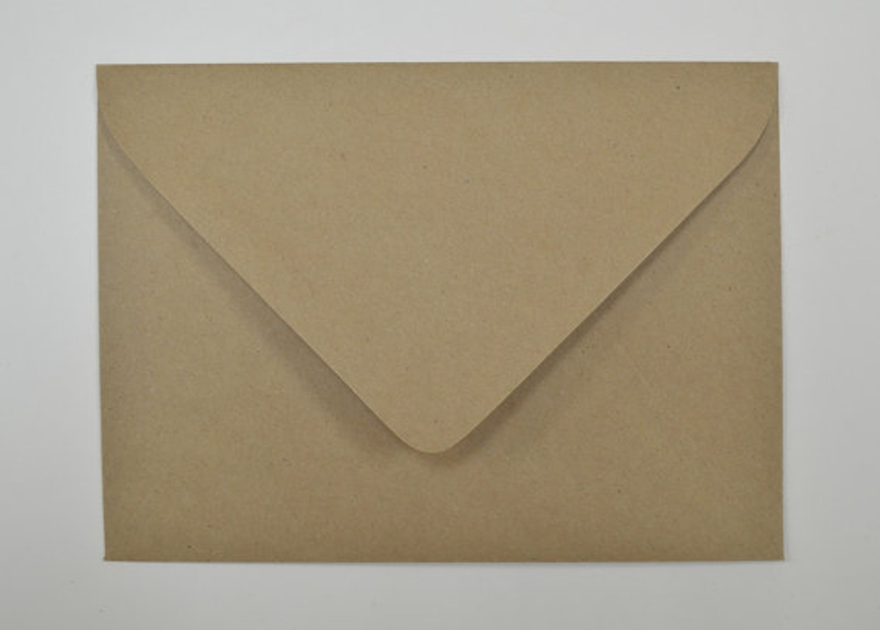 Recycled Brown Kraft Envelope - Euro Flap