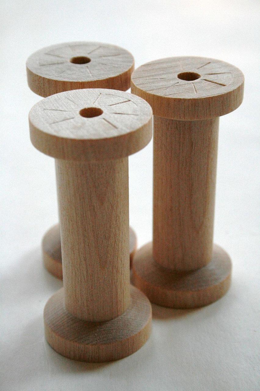 Large Wooden Spools Natural Wood Thread Spools