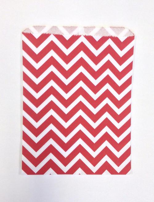 ca7e6f558e9 Merchandise Bags - Flat Paper - Red Chevron 6.25 x 9.25 Inches