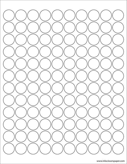 template 3 4 inch round labels inkscissorspaper
