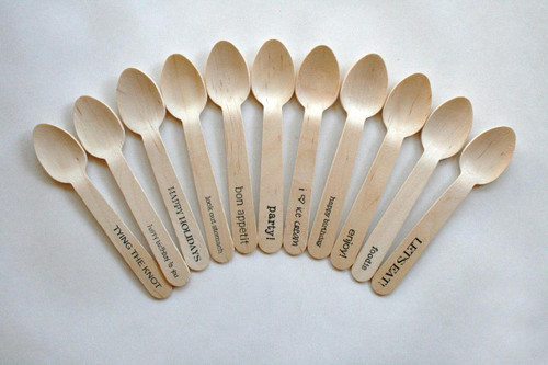 Customized Customized Printed in Full Color Custom Personalized Wooden Fork