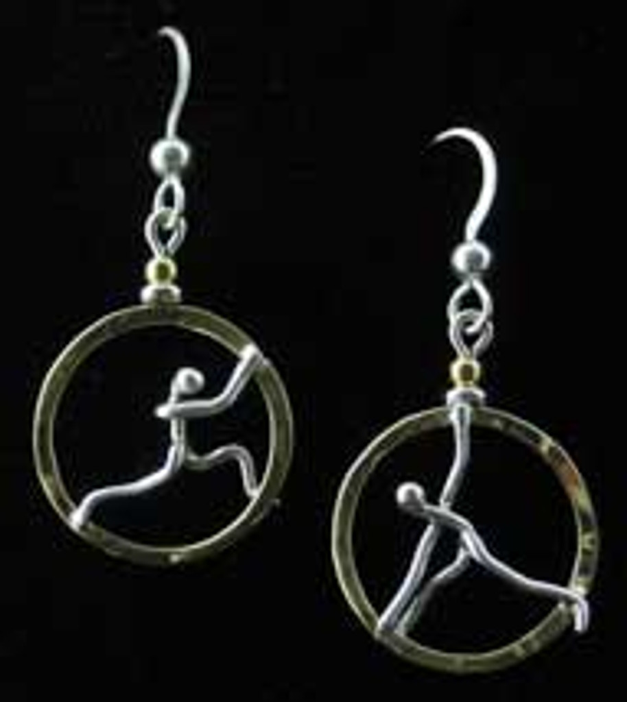 Yoga Wheel Earrings