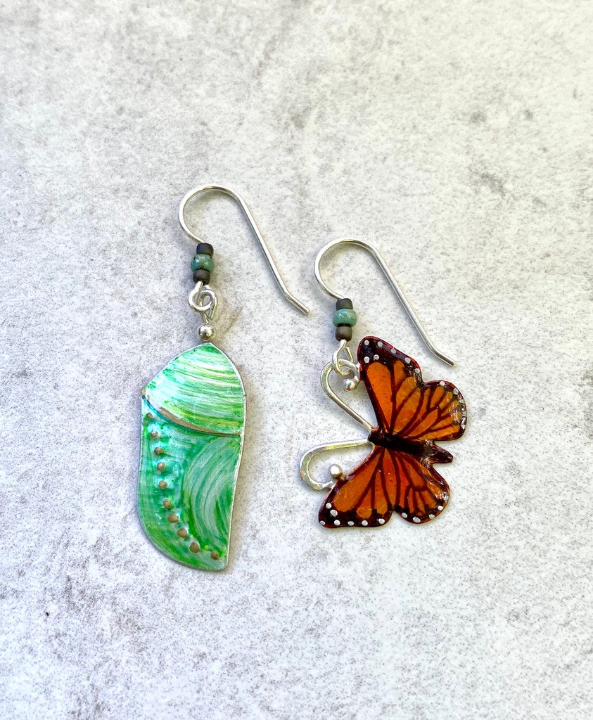 Which Came First? Monarch Earrings