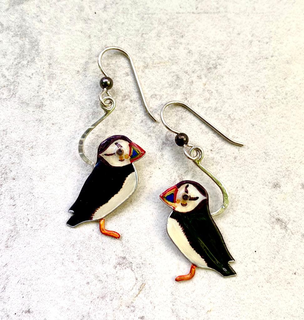 Puffin Earrings