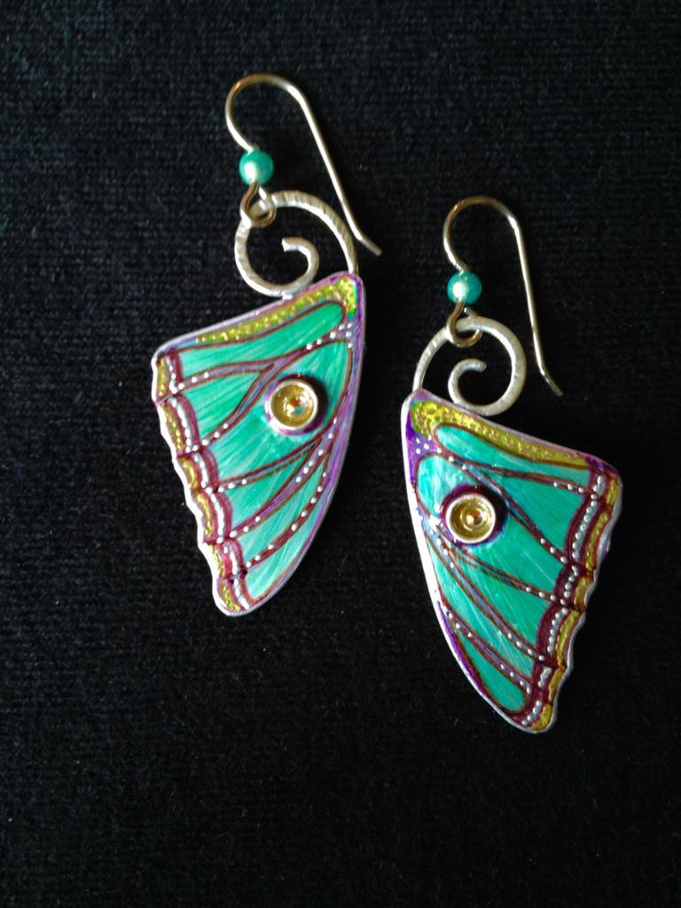 Spanish Moon Moth Earrings