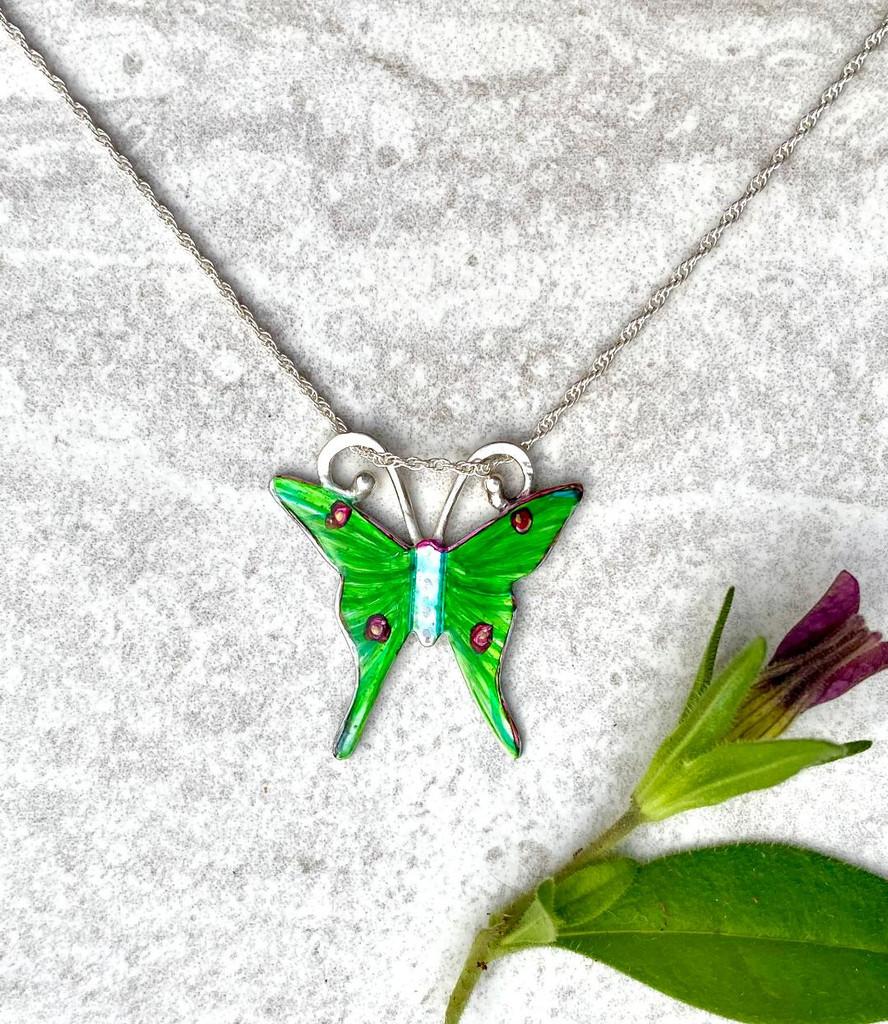 Small Luna Moth Necklace