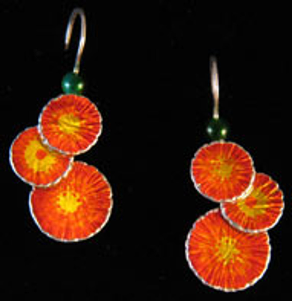 Indian Paintbrush Earrings
