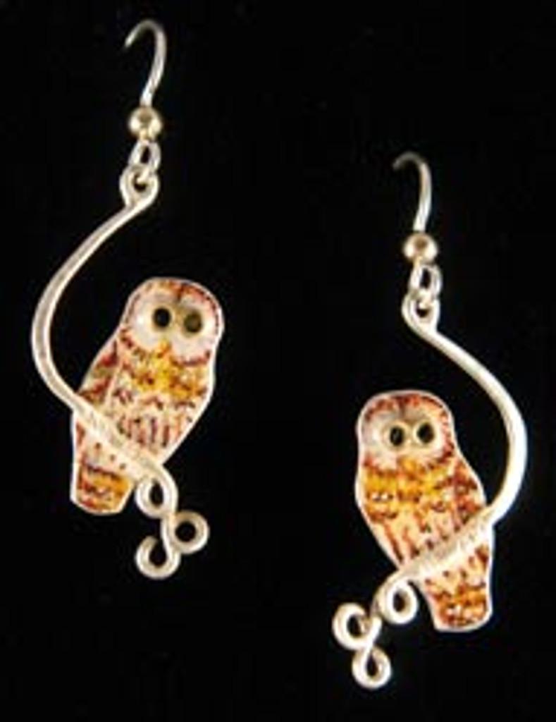 Barred Owl Earrings
