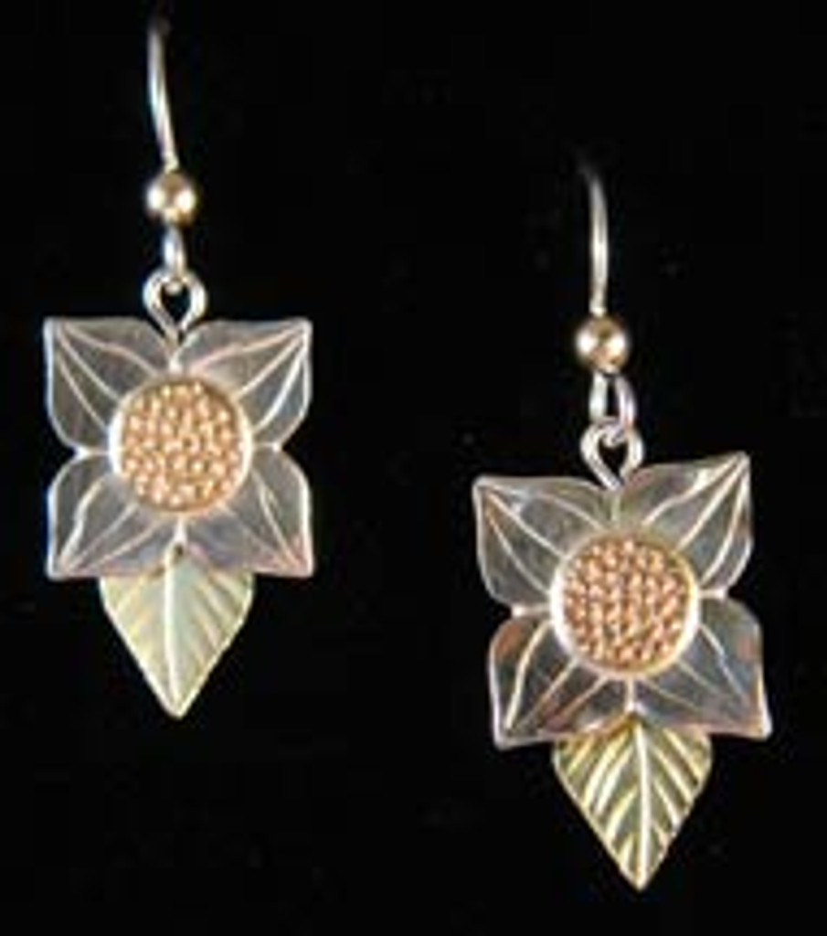 Bunchberry with Leaves Earrings