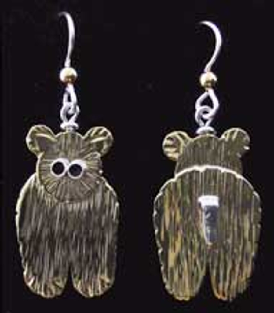 Before and After Bear Earrings