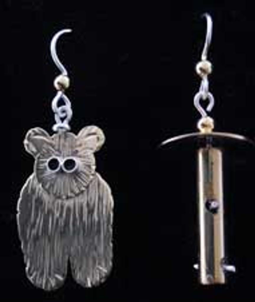 Bear and Feeder Earrings