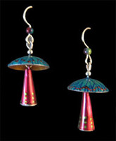 Moving Mushroom Earrings