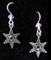 Small Snowflake Earrings